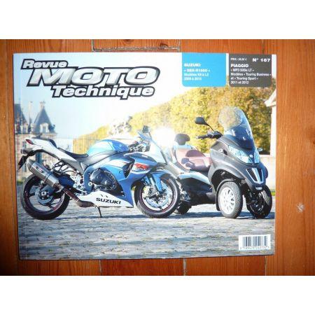 MP3 500ie GSX1000R Revue Technique moto Piaggio Suzuki