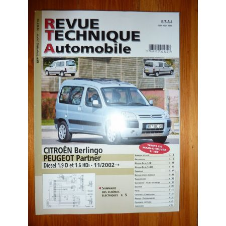 Berlingo Partner D 02- Revue Technique Citroen Peugeot