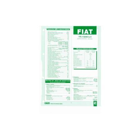 F1AE0481 D-N Fiche Technique Fiat