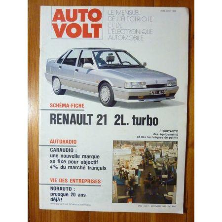 R21 2L Turbo Revue Technique Electronic Auto Volt Renault