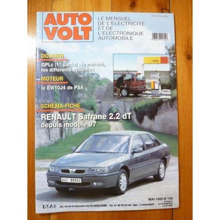 SAFRANE 2.2 DT 97- Revue Technique Electronic Auto Volt Renault