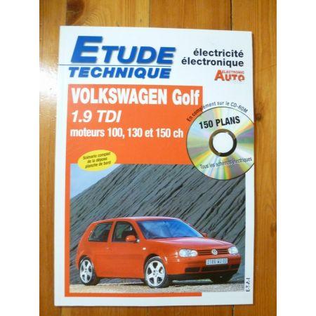 Golf 1.9 TDI Revue Technique Electronic Auto Volt Volkswagen