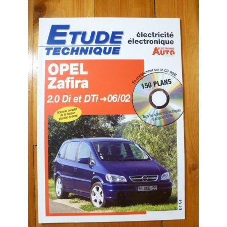 Zafira 2.0DTi 02- Revue Technique Electronic Auto Volt Opel