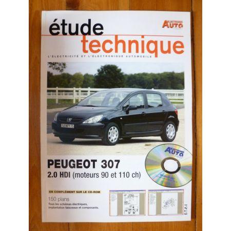 307 2.0 HDi Revue Technique Electronic Auto Volt Peugeot