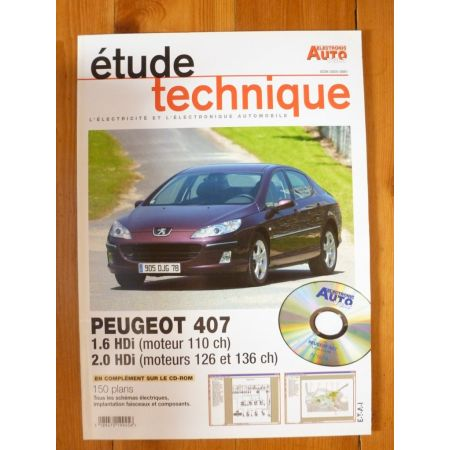 407 HDi Revue Technique Electronic Auto Volt Peugeot