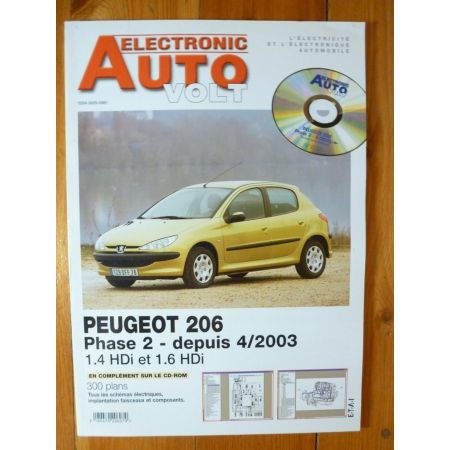 206 Ph 2 HDi 03- Revue Technique Electronic Auto Volt Peugeot