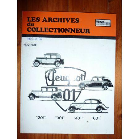 201 301 401 601 30-35 Revue Technique Les Archives Du Collectionneur Peugeot