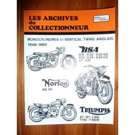 1 et 2 Cyl anglais Revue Technique Les Archives Du Collectionneur Norton Triumph