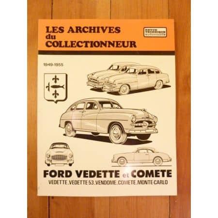Vedette et Comete Revue Technique Les Archives du Collectionneur Ford Simca