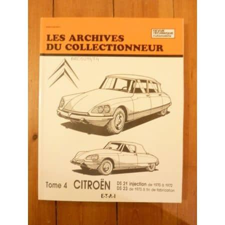 DS21 DS23 Revue Technique Les Archives Du Collectionneur Citroen
