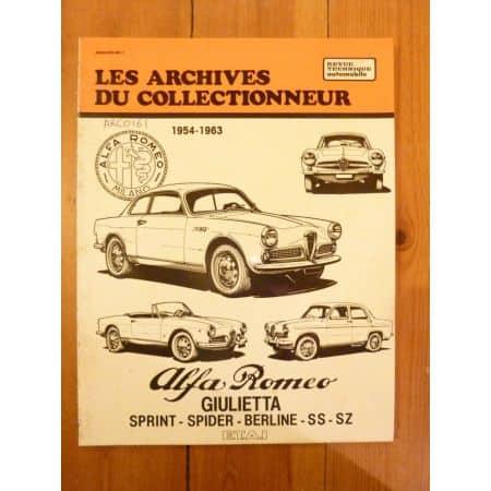 Giulietta Revue Technique Les Archives Du Collectionneur Alfa Romeo