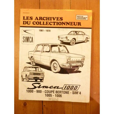 1000 Revue Technique Les Archives du Collectionneur Simca