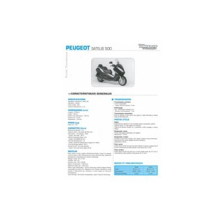 Satelis 500 Fiche Technique Peugeot