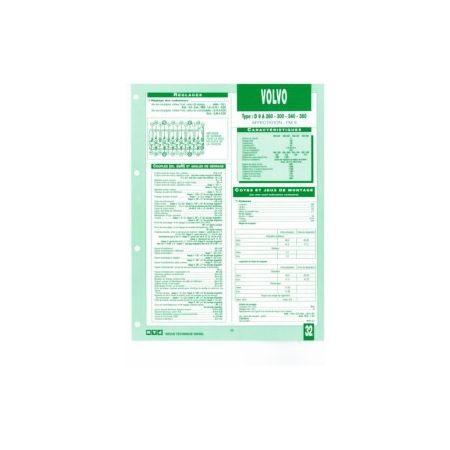D9A 260-300-340-380 fiche technique Volvo