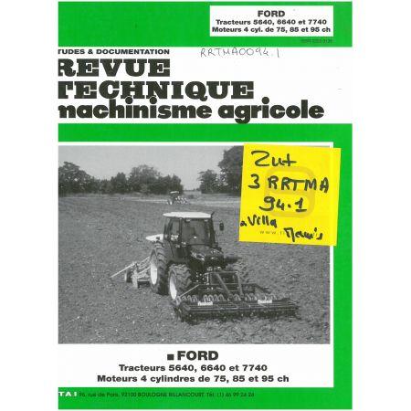 5640 6640 7740 Revue Technique Agricole Ford