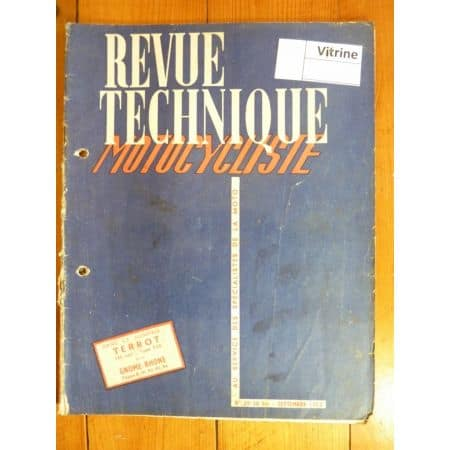 Velomoteur Motorette Revue Technique moto Gnome Rhone Terrot