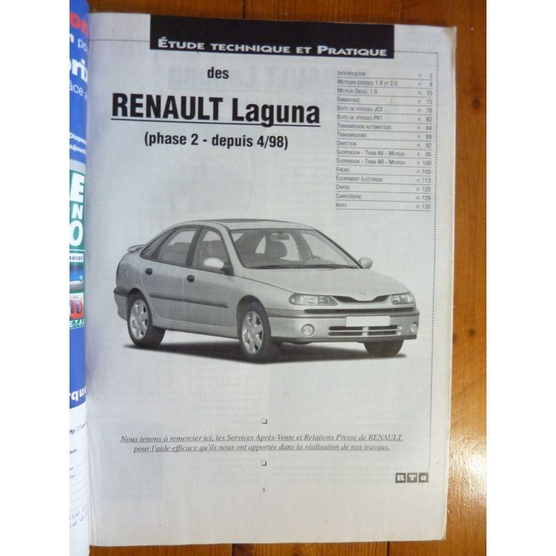 renault laguna phase ii depuis 04 1998 essence f et diesel dti et dci. Black Bedroom Furniture Sets. Home Design Ideas