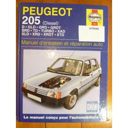 205 Die Revue Technique Haynes Peugeot