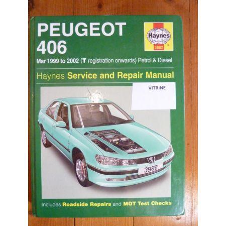 406 99-02 Anglais Revue Technique Peugeot Haynes