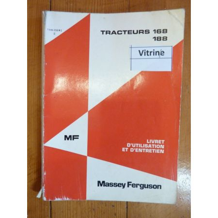 168 - 188 MF LIVRET INSTRUCTION MASSEY FERGUSON