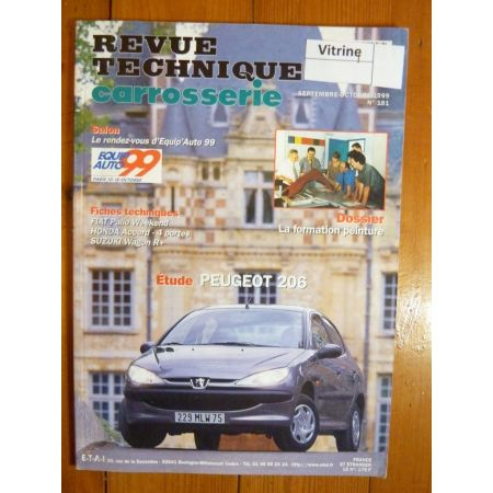 206 Revue Technique Carrosserie Peugeot