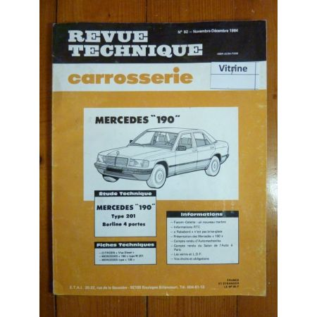 190 W201 Revue Technique Carrosserie Mercedes