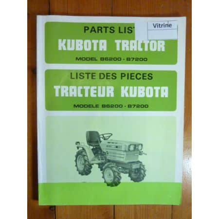 B6200 B7200 Catalogue Pieces Kubota