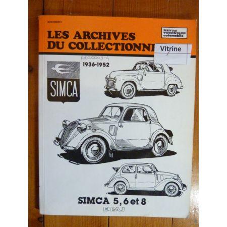 SIMCA 5 6 8 Revue Technique Les Archives Du Collectionneur