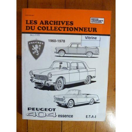 404 Ess 60-78 Revue Technique Les Archives Du Collectionneur Peugeot