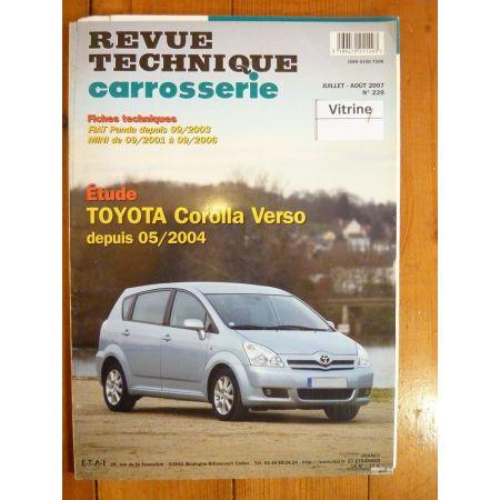 Corolla Verso dep 04- Revue Technique Carrosserie Toyota