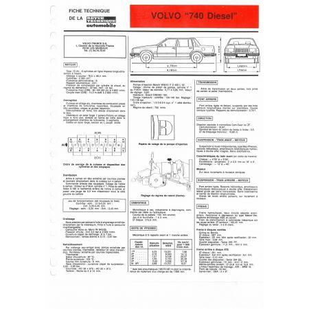 740 Diesel fiche technique Volvo