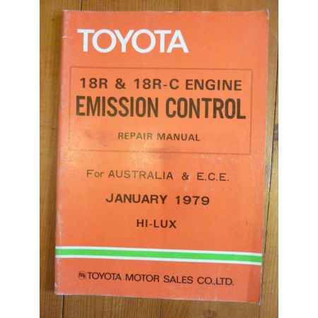 HI-LUX Repair Manual Anglais Emission Toyota