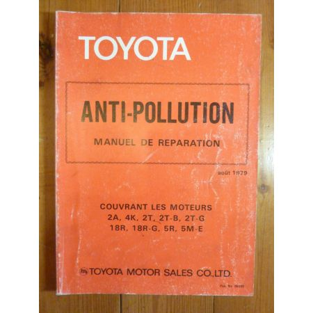Pollution Manuel Réparation Toyota