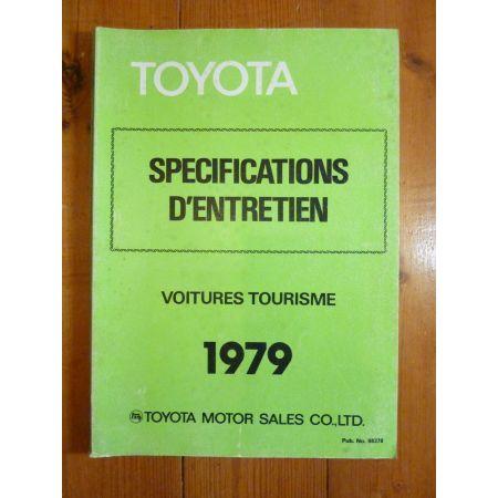 Entretien 1979 Manuel Réparation Toyota