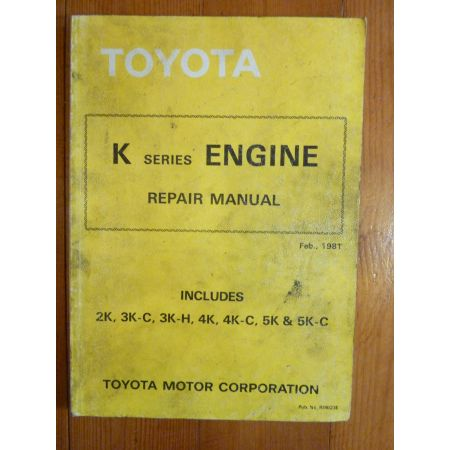 K Engine Repair Manual Anglais Moteur Toyota