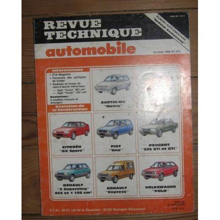 SPECIAL EVO Revue Technique Renault Citroen Fiat Peugeot Volkswagen