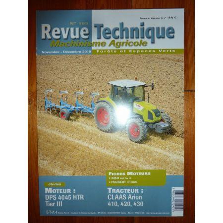 ARION 410 420 430 Revue Technique Agricole Claas