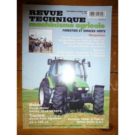 Agrotron 68 à 155cv Revue Technique Agricole Deutz Fahr