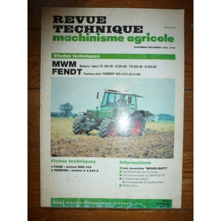 Farmer 305 a 312 Revue Technique Agricole Fendt
