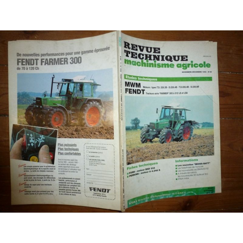 Fendt Farmer 305 224 312 Ls Et Lsa Moteurs Mwm Td226 3b