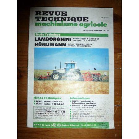 115 135 6115 6135 Revue Technique Agricole Lamborghini