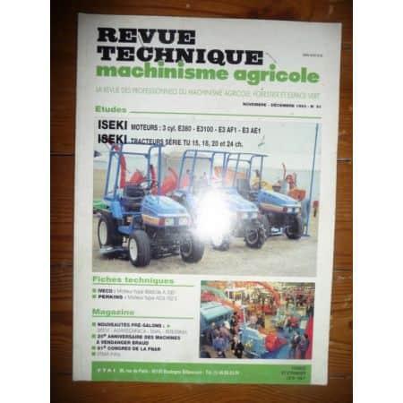 Série TU Revue Technique Agricole Iseki