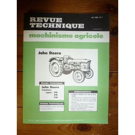310 510 710 Revue Technique Agricole John Deere