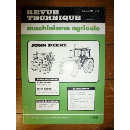 1640 2040 2140 3040 3140 Revue Technique Agricole John Deere