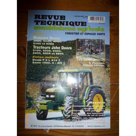 6100 à 6600 Revue Technique Agricole John Deere