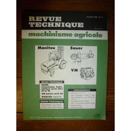 10-27 - Serie SU Revue Technique Manitou Sauer