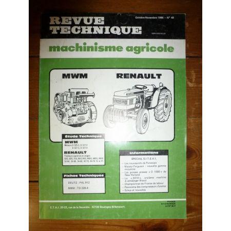 50S 60S a 490S Revue Technique Agricole Renault