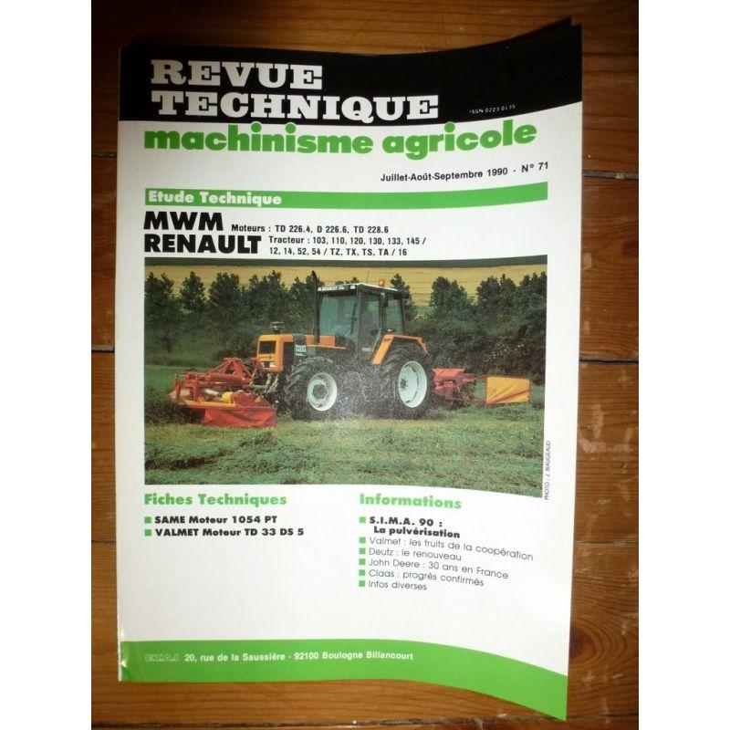 Équipements Professionnels Cooperative Rtma 130 Ts 80 90 100 110 Revue Technique Tracteur Agricole New Holland