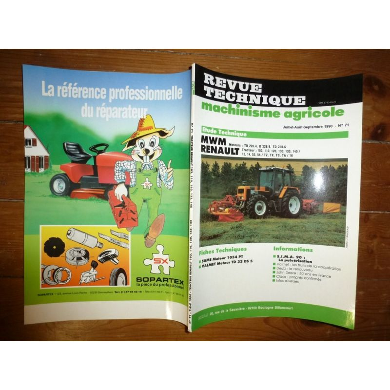 Manuels, Revues, Catalogues Agriculture Cooperative Rtma 130 Ts 80 90 100 110 Revue Technique Tracteur Agricole New Holland