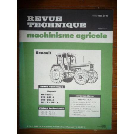 891 981 1151 1181 Revue Technique Agricole Renault